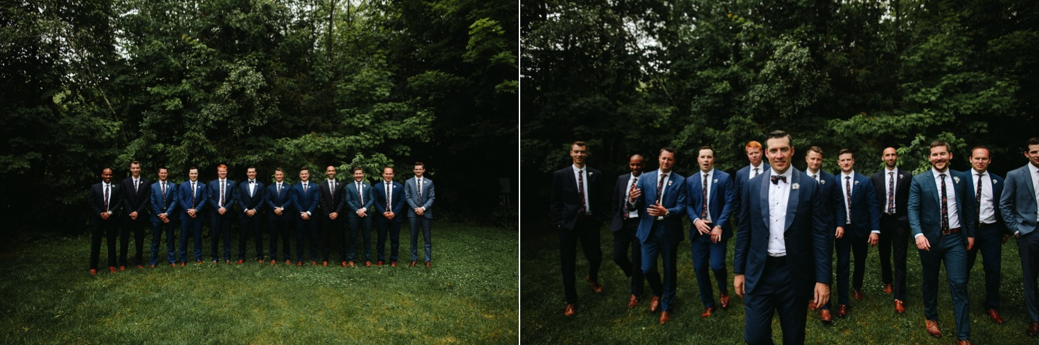 Vermont wedding bridal party